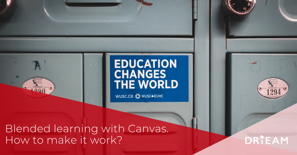 Blended learning with Canvas